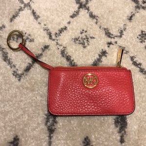 Michael Kors coin purse with key ring